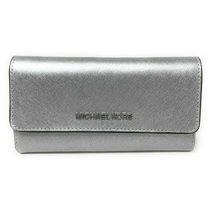 Michael Kors Jet Set Travel Trifold Wallet Silver